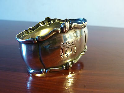 Antique Engraved 800 Continental Silver Napkin Ring