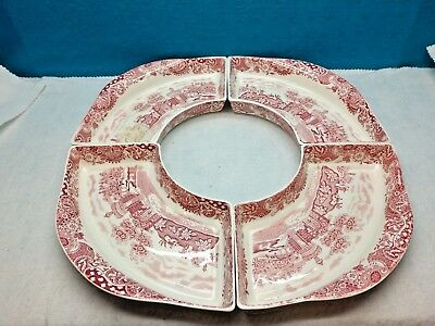 Landscape~Pink~ W.r. Midwinter~England~Lazy Susan~Replacement Dishes