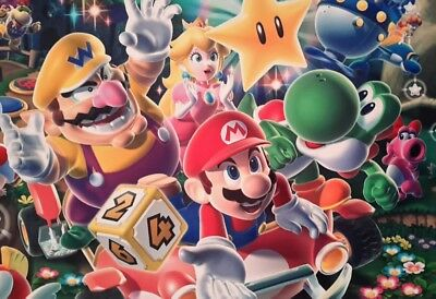 Super Mario Party Wario Yoshi Princess Toad A4 Poster Picture Print A4 Wall Art