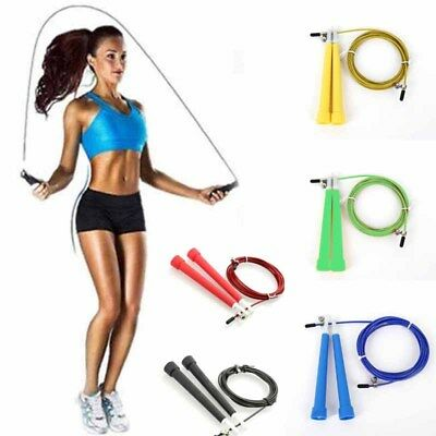 Pro Speed Skipping Jump Rope Gym Sports Adjustable Gifts Boxing Fitness Bearing