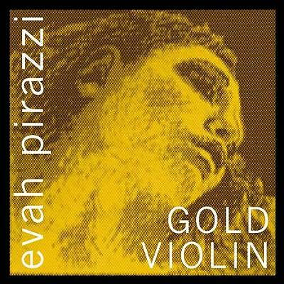Pirastro Evah Pirazzi Gold Violin String Set - Silver Wound G - Loop E - Medium