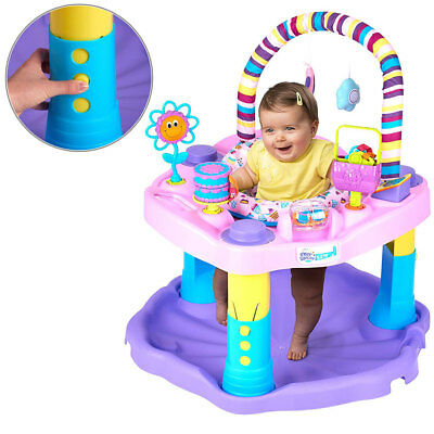 Adjustable Baby Activity Center Jumper Gym Toys Toddler Exersaucer Bouncer Seat