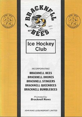Mar 89 BRACNELL BEES v CARDIFF DEVILS ,SOLIHULL BARONS