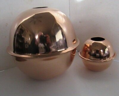 New shiny copper ball globe for weather vane or lighting rod