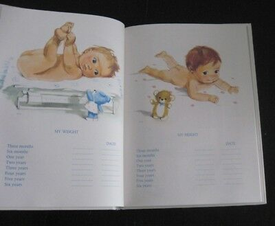 1969 My First BABY BOOK souvenir illustrated record memories NEVER USED! vintage