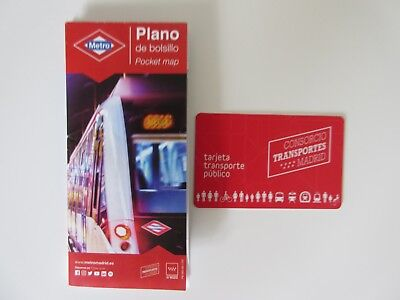 Spanish Spain  Madrid Multi Card, Travel Card Oyster Metro, Tube card with Map