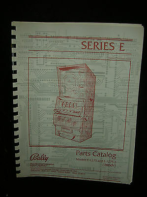 Bally Slot Machine Parts Catalog Series E 7020 1982 Print 1275-1275-1 French