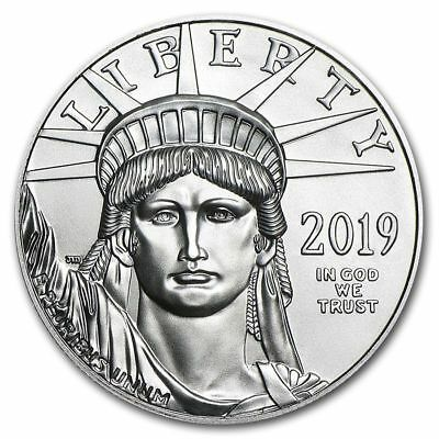 2019 Platinum $100 American Eagle 1 oz Coin - US Mint American Platinum Eagle