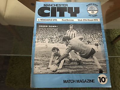 Manchester United v Newcastle United. March 1974. Match Programme.