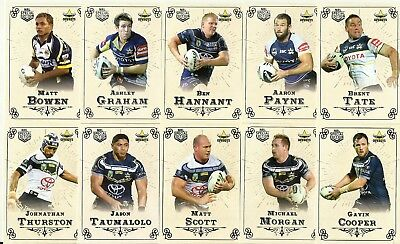 2018 Nrl Special Edition GLORY NORTH QUEENSLAND COWBOYS COMMON TEAM SET 10 CARDS