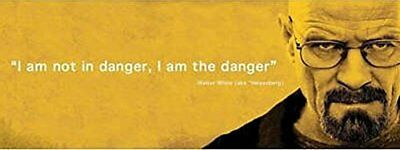 I am the Danger - Breaking Bad Quote 36x12 TV Art Print Poster