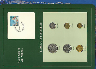 Coin Sets of All Nations Seychelles 1981-1982 UNC w/Card 10 cents 1981