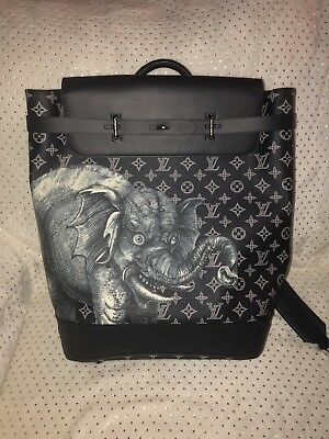 18112db622b Limited Edition Louis Vuitton Steamer Savanna Chapman Brothers Elephant  Backpack