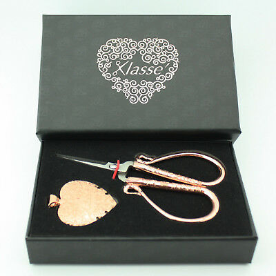 """Embroidery Scissor Boxed Gift Set Rose Gold 4"""" Scissor and Thread Cutter"""