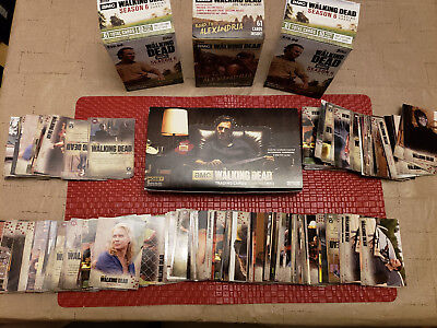 Walking Dead Trading Cards Lot Of 560+ Autograph Shadowbox