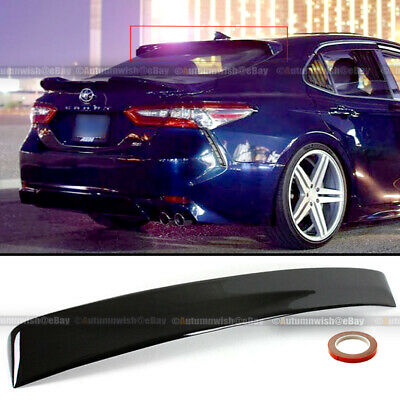 For 2018 2019 Toyota Camry Glossy Black JDM Sport Rear Window Roof Wing Spoiler