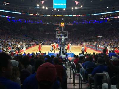 2 Loge End Tickets Los Angeles Lakers vs Golden State Warriors 4/4