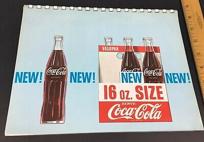 1962 Coca-Cola 16 oz Size promotional RETAIL INFO BOOKLET paper advertising