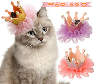 Pet Cat Dog Crown Hair Clip Bow Tie Hairpin Bowknot Hair Clips Grooming Supply