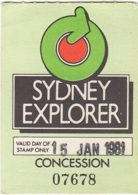 NSW Dept of Tourism Ticket 1981