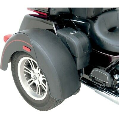 Saddlemen Smooth Black Rear Fender Bra Protectors Harley Trikes FLHX FLHT 08-Up
