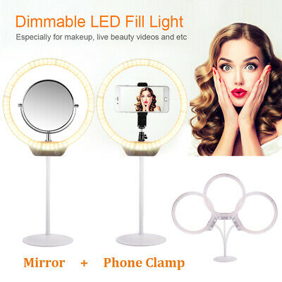 Portable Dimmable Video LED Ring Light Lamp Lighting Kit for Camera Phone OG011