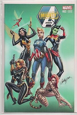 Mighty Avengers #2 NYCC CON Exclusive Variant Comic Book. J Scott Campbell