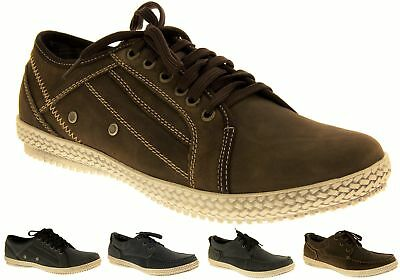 8c85ca0d1bc Mens LEATHER YACHTSMAN Deck Shoes Casual Trainers Flat Formal Boating  Moccasins