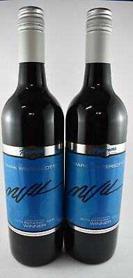 "2 x Mount Panorama Wines Mark ""Frosty"" Winterbottom Shiraz Hand Signed, 342, 343"