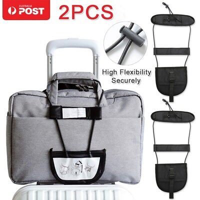 2x Travel Luggage Suitcase Adjustable Tape Belt Add Bag Strap Carry On Bungee AU