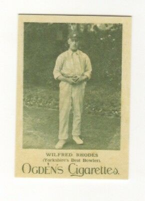 Cricket Card. Wilfred Rhodes, England