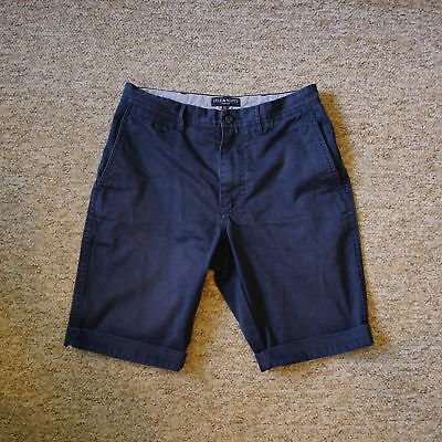 fb944d6edd6 Lyle   Scott Vintage Mens Navy Blue Chino Shorts Size 29 Measured 30 Tag