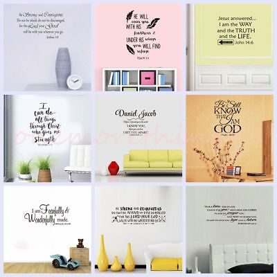 Bible Verses Wall Decals Religious Quotes Vinyl Art Wall Stickers Home Decor DIY