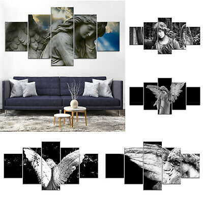 Christian Angel Canvas Print Painting Framed Home Decor Wall Art Poster 5Pcs