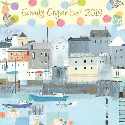 By the Sea 2019 Family Organiser Wall Calendar (Gifted Stationery) Free Postage