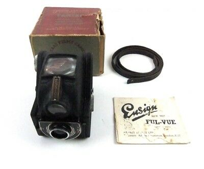 Vintage Ensign Ful Vue Camera in original box with instructions + strap