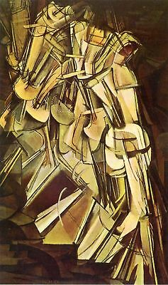 NUDE DESCENDING A STAIRCASE by Marcel Duchamp - Matt, Glossy, Canvas Paper A4/A3