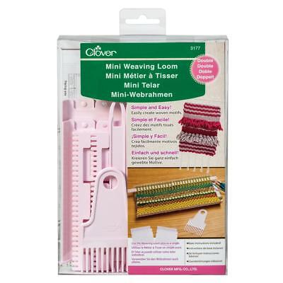 Clover Double Mini Weaving Loom With Warp Separator Knitting Full Instructions