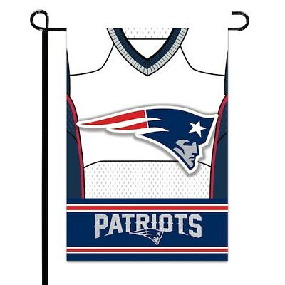 "New England Patriots 12.5"" x 18"" Double-Sided Jersey Foil Garden Flag"