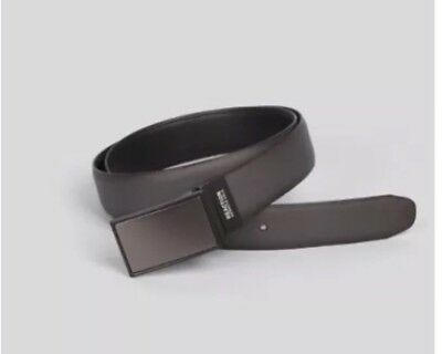 KENNETH COLE REACTION Reversible Feather Edge Belt Black Brown Mens ... 9e0e3c1966bf
