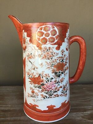 Antique Japanese Meiji Kutani Porcelain pitcher