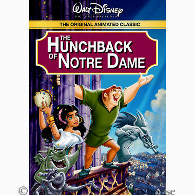 The Hunchback of Notre Dame Paris Cathedral Gargoyles Animated Disney Movie DVD