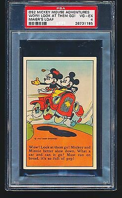 1937 D52 Mickey Mouse Adventures MICKEY IS QUITE A MUSICIAN PSA 4 - 1/1