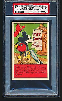 1937 D52 Mickey Mouse Adventures MICKEY THE FIREMAN PSA 4