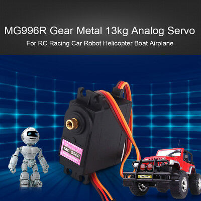 Wo_ Mg996R Gear 13Kg Analog Servo For Rc Car Robot Helicopter Boat Airplane Opul