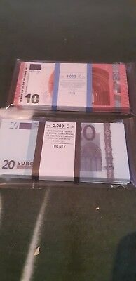 10-20- EURO-SOUVENIR-BANKNOTE-2-pack-1 pack-80 pieces for-Prank