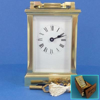 Perfect French original Andrew Huber - WJH 8 day carriage clock