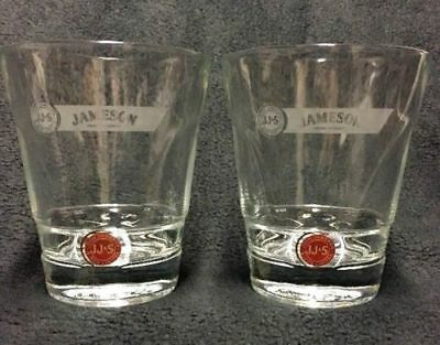 John Jameson & Son Irish Whiskey Red Label Lowball Rocks Glasses, Set of 2 EUC