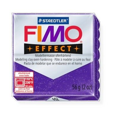 Staedtler Fimo Effect Glitter Purple (602) Polymer Modelling Clay Oven Bake 56g