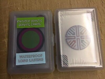 Playing Cards Lot Waterproof Clear Plastic Decks